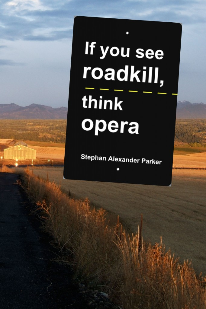 cover of if you see roadkill, think opera