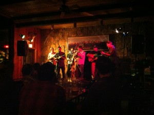 Photo from Feb 5, 2013--Matt Flinner Trio on the stage at Dornan's Bar in Moose, Wyoming