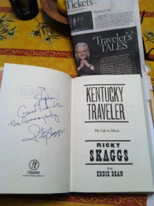 "still life Photo from Aug 14, 2013 --Ricky Skaggs at Gaithersburg Book Festival ""To Stephan, Good luck with the Grammy entry, Ricky Skaggs"""