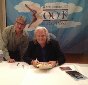 Stephan Alexander Parker with Ricky Skaggs at the Gaithersburg Book Festival