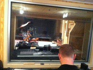 Photo of Jeffrey Dokken conducted cello soloist Natalie Spehar in one of the final sessions for A Roadkill Opera