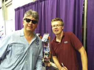 Photo of Stephan Alexander Parker meets with Groth Music's Dan Friberg at the 2013 Minnesota State Fair