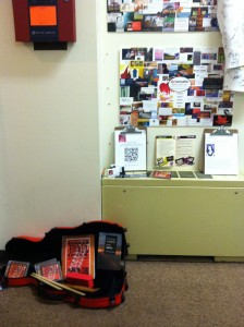 Photo of the display for A Roadkill Opera at Artomatic@Frederick 2013