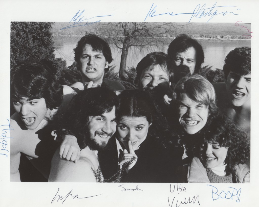 Signed photo of the cast of the 1980 Mee-Ow show, Ten Against The Empire