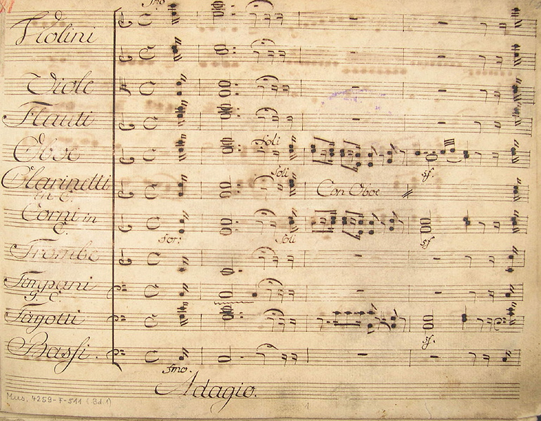 Photo of the 1804 manuscript for Ferdinando Paer's Leonora