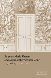 Cover of the book Empress Marie Therese and Music at the Viennese Court, 1792–1807