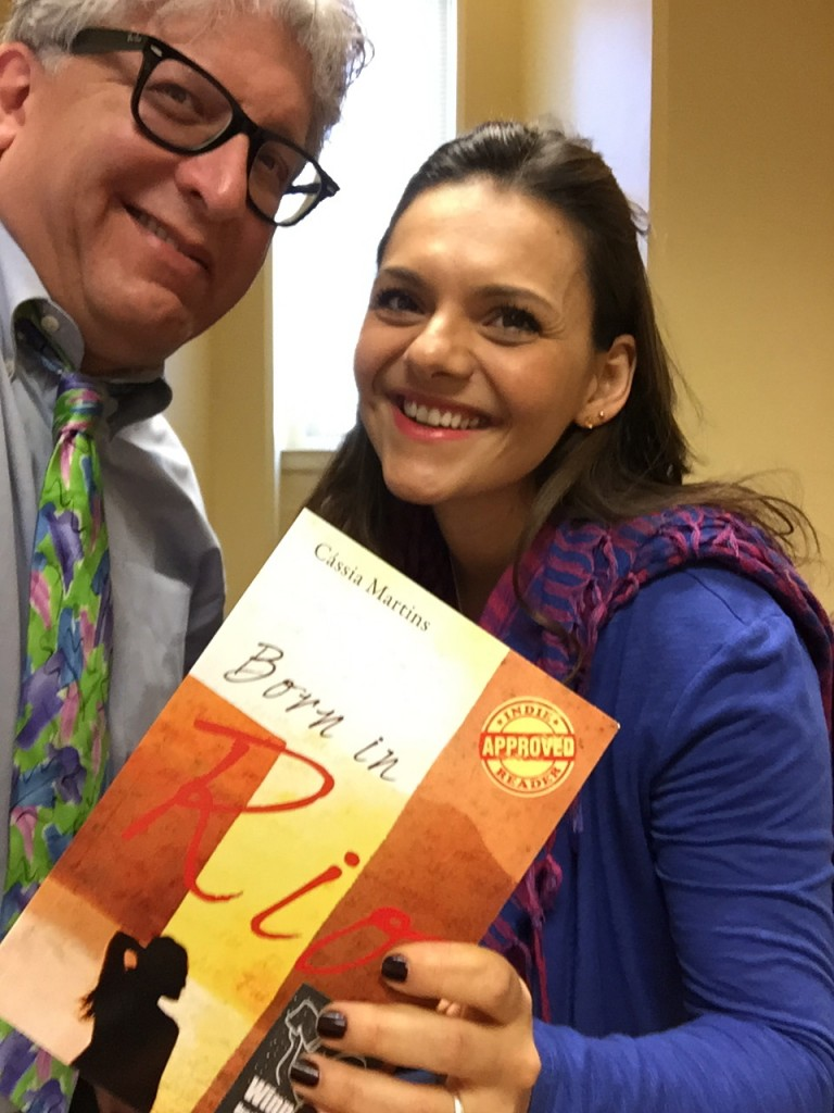 Photo of Parker and Martins with book Born in Rio