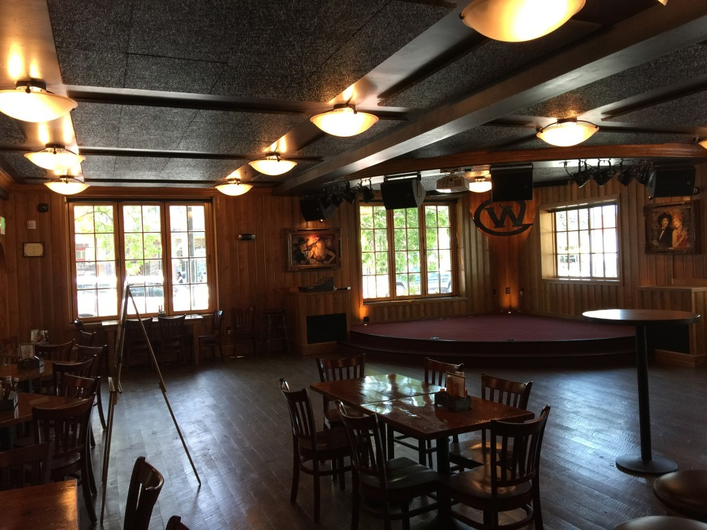 Photo of the new performance space at the Silver Dollar Bar