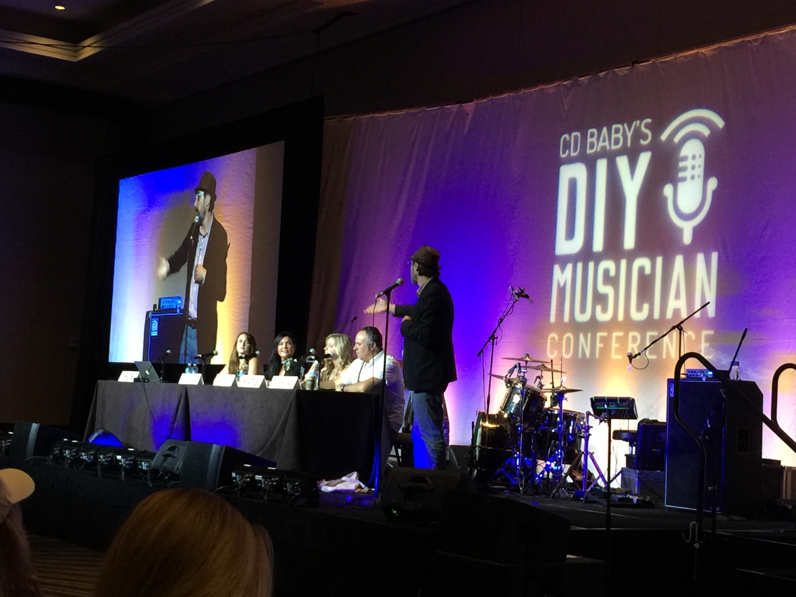 Photo of full stage for Song Pitch Session at CD Baby's DIY Musicians Conference 2017 in Nashville, Tennessee
