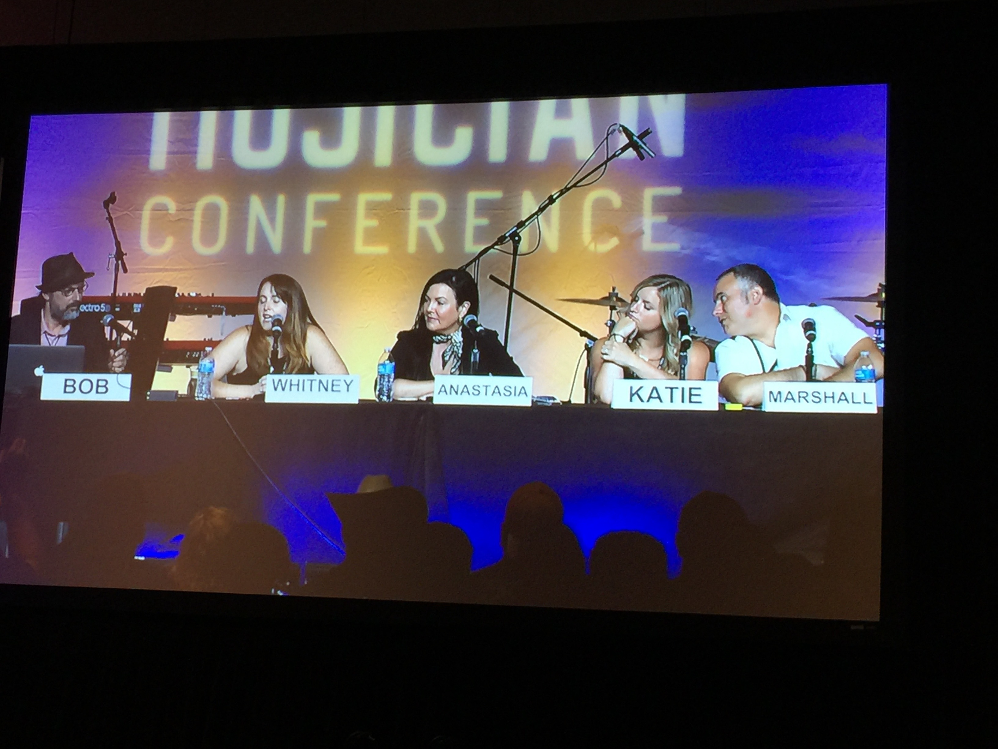 Photo of Bob Boilen of NPR Radio's All Songs Considered led a anel discussion at Song Pitch Session at CD Baby's DIY Musicians Conference 2017 in Nashville, Tennessee